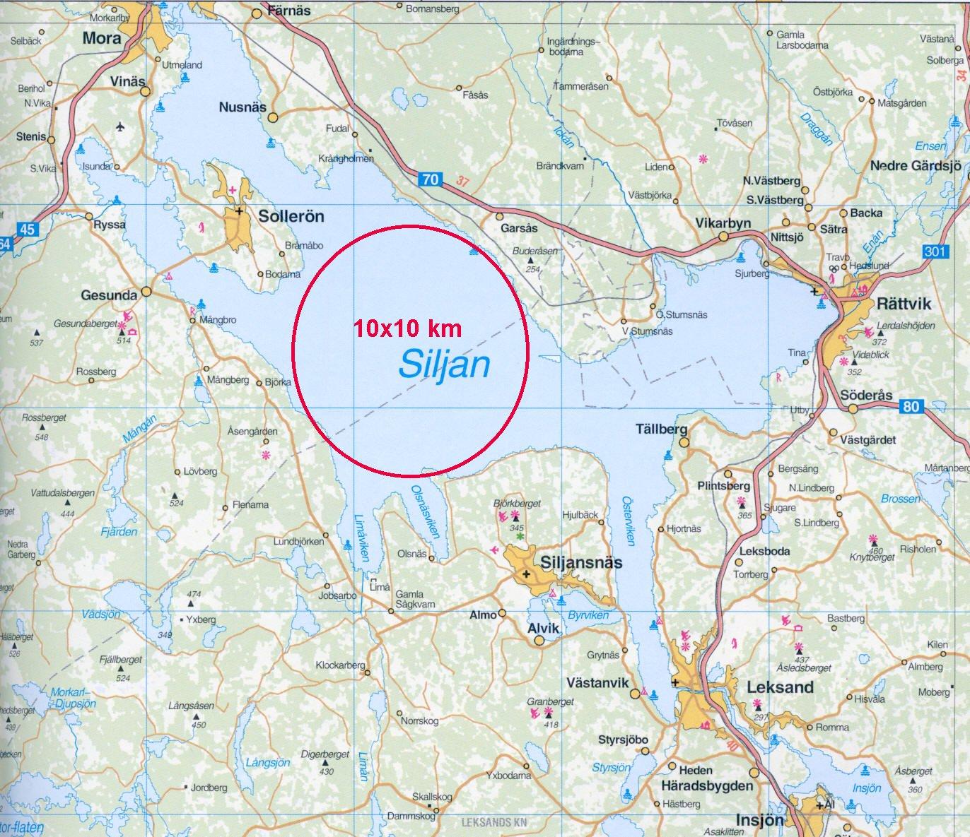 siljan runt karta Slaget om Siljan   det var så här allt började   Hockeyisten siljan runt karta